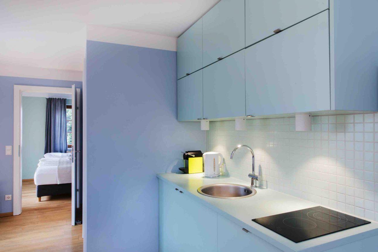 (Villa Charlotte). Küche im Apartment Wolfgangsee in der Villa Charlotte