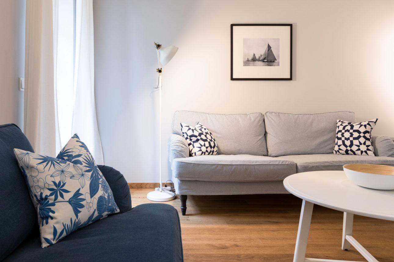 (Apartment Attersee ). Wohnzimmer im Apartment Attersee in der Villa Charlotte