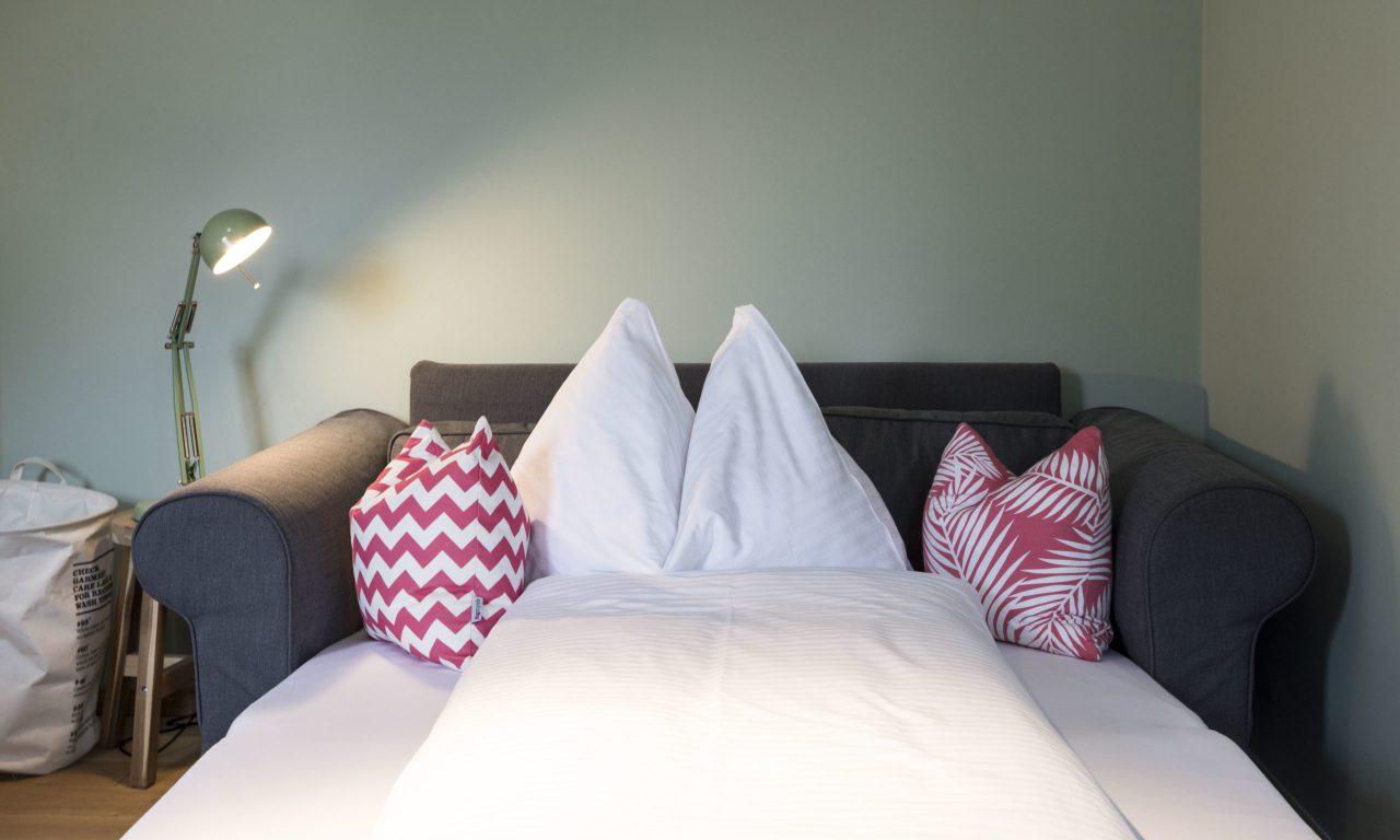 (Villa Charlotte). Bequeme Betten in der Villa Charlotte, Apartment Mondsee