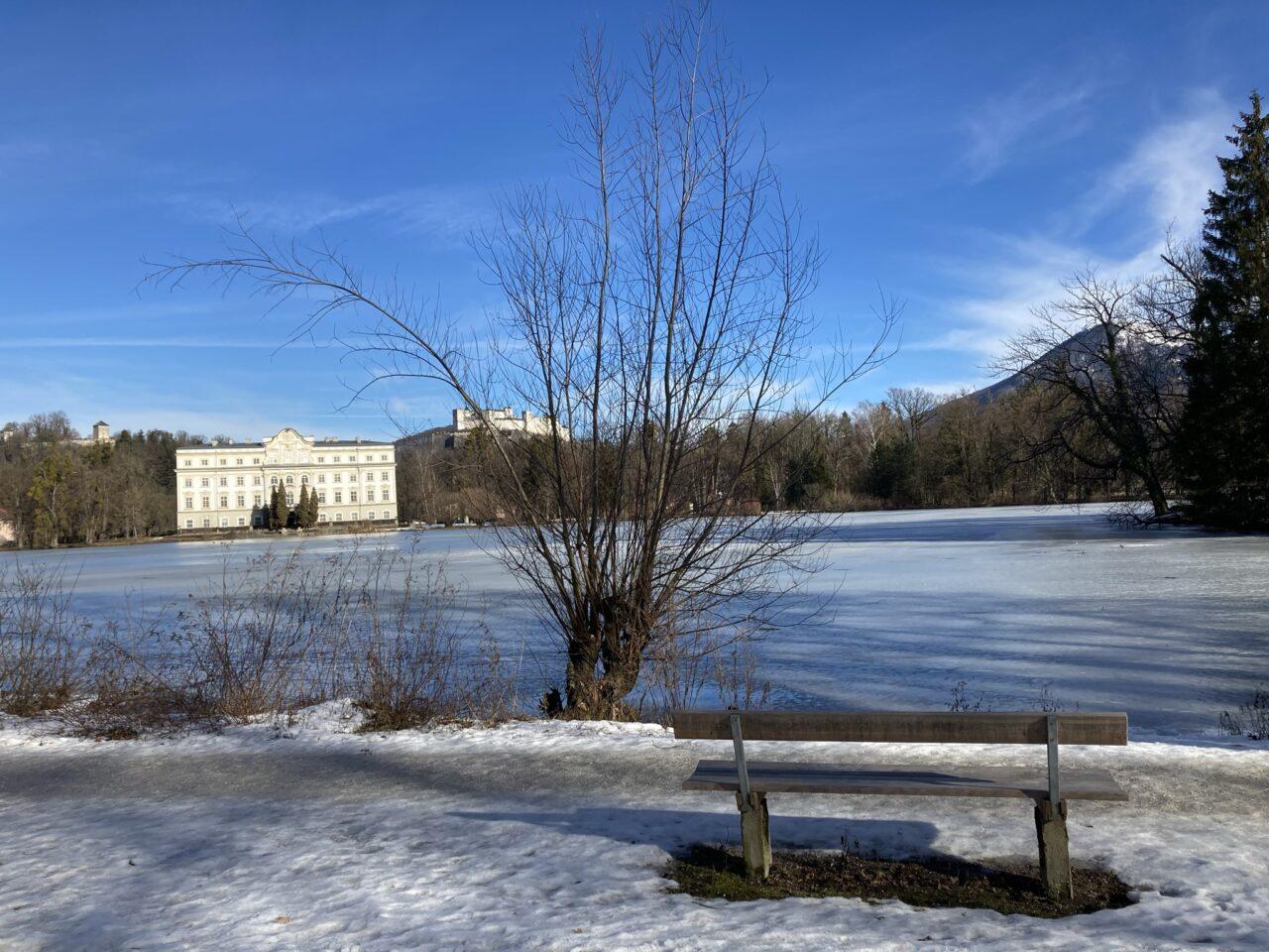 Pond Leopoldskron Castle Leopoldskron Salzburg